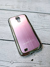 Металлический Чехол для Samsung Galaxy S4 i9500 накладка бампер противоударный розовый