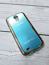 Металлический Чехол для Samsung Galaxy S4 i9500 накладка бампер противоударный голубой