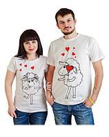 """Парные футболки для двоих """"Влюбленные барашки"""", Push IT"""