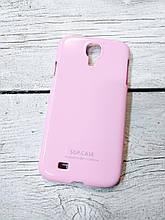 Чехол для Samsung Galaxy S4 i9500 накладка бампер противоударный розовый