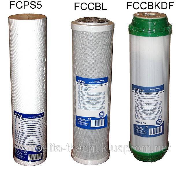 Комплект сменных картриджей для фильтров воды 3шт №3 - VVK24 в Днепре