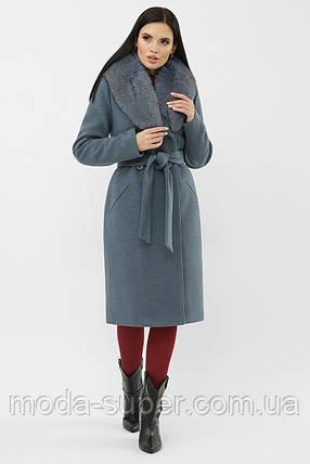 Пальто с шалевым воротником рр  44  46, фото 2
