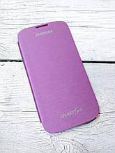 Чехол книжка для Samsung Galaxy S4 i9500 Flip Cover накладка бампер противоударный фиолетовый