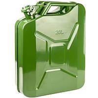Канистра 20 л Сталь 79020  Зеленая металлическая вертикальная 20  литров, фото 1