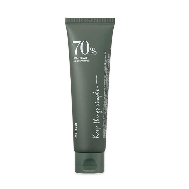 Anua Heartleaf 70% Mud Cream Mask Глиняная маска, 100 мл