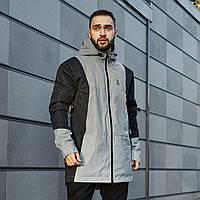 Куртка демисезонная мужская рефлективная легкая весенняя куртка