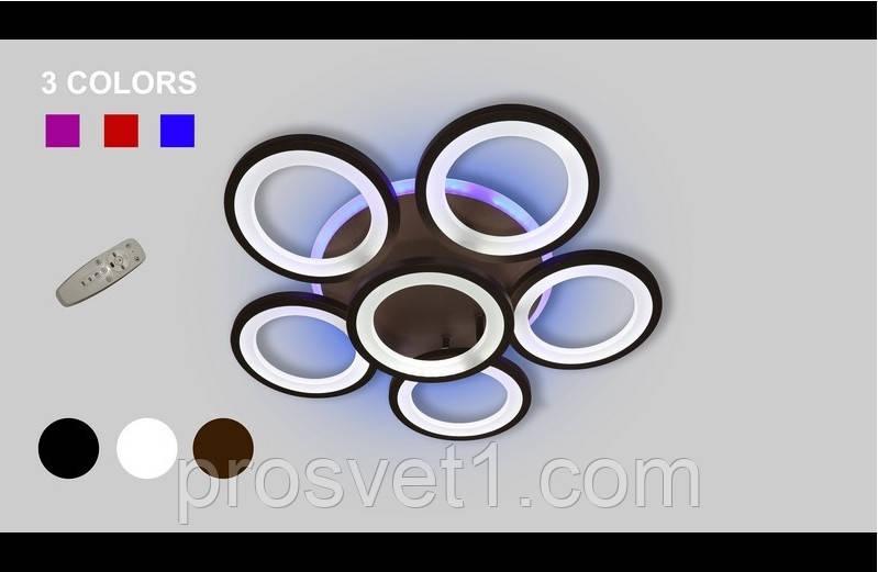 Світлодіодна люстра припотолочная 5538-5-1 Color LED ЛЗ