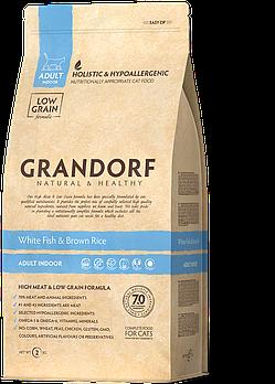 Сухой корм для кошек Grandorf White fish & Brown Rice ADULT с белой рыбой, 400 г
