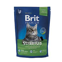 Корм Brit Premium Cat Sterilised Брит Преміум Кет Стерілайзет для кішок з куркою 300 г