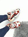 Женские кроссовки Adidas Young красно-белые , фото 3