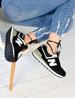 Замшевые модные кроссовки New Balance 574 (два цвета)