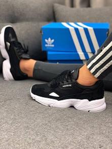 Кроссовки черные женские Adidas Falcon