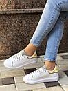 Женские кроссовки Alexander McQueen из натуральной кожи (рефлективные), фото 4