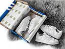 Жіночі білі кросівки Adidas Superstar із шкіри, фото 7