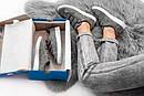 Женские кеды ADIDAS STAN SMITH на липучках из натуральной замши, фото 4