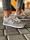 Стильні замшеві кросівки New Balance 574 сірі, фото 3