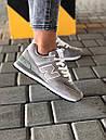 Стильні замшеві кросівки New Balance 574 сірі, фото 6