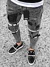 Черные мужские кроссовки к джинсам, фото 2