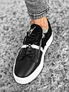 Черные мужские кроссовки к джинсам, фото 3
