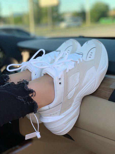 Жіночі білі кросівки M2K Summit white з шкіри