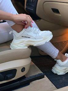 Женские кожаные кроссовки Triple S white