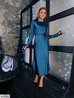 Шелковое женское платье миди 42-48