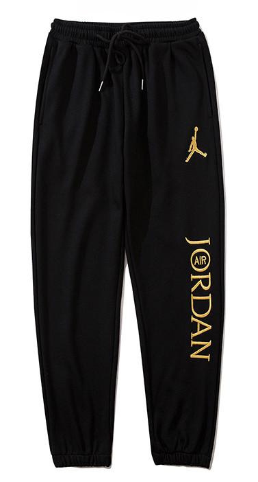 Чорні штани Jordan (чоловічі жіночі унісекс укорочені)