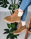 Женские оригинальные замшевые ботинки (черные, коричневые, розовые, серые), фото 7