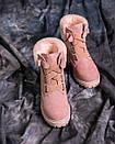 Женские оригинальные замшевые ботинки (черные, коричневые, розовые, серые), фото 9