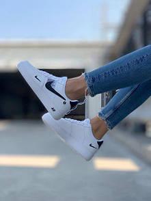 Женские кожаные кроссовки Air Force 1 White