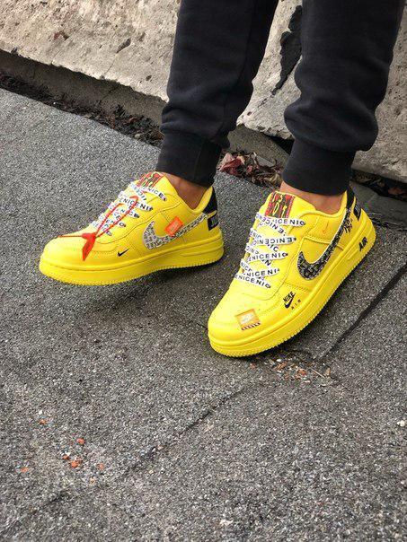 Жіночі жовті кросівки Air force