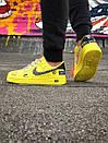 Жіночі жовті кросівки Air force, фото 4