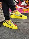 Жіночі жовті кросівки Air force, фото 5