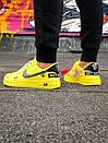 Жіночі жовті кросівки Air force, фото 6