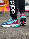 Жіночі замшеві кросівки Adidas Falcon, два кольори, фото 3