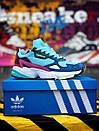 Жіночі замшеві кросівки Adidas Falcon, два кольори, фото 9