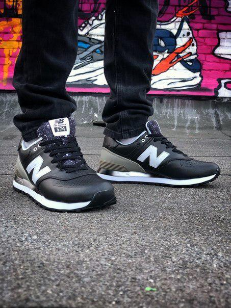 Чоловічі кросівки New Balance 574 з шкіри