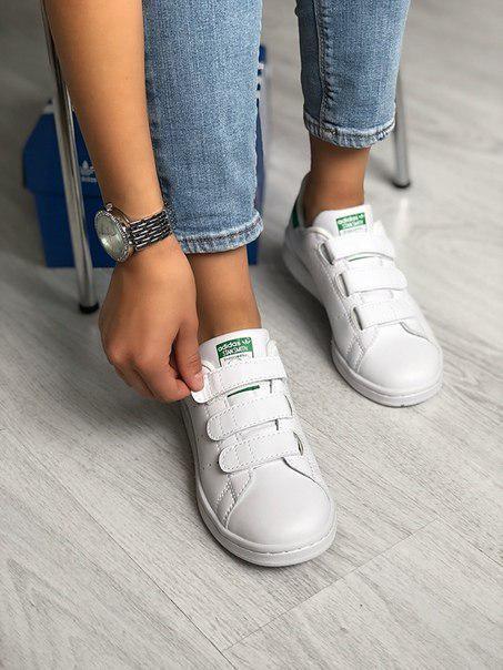 Женские кожаные кроссовки Adidas Stan Smith, две модели