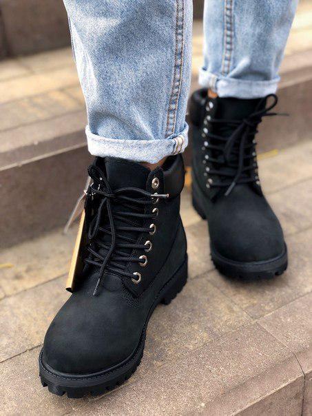 Женские ботинки Timberland Premium inch FUR (с мехом)