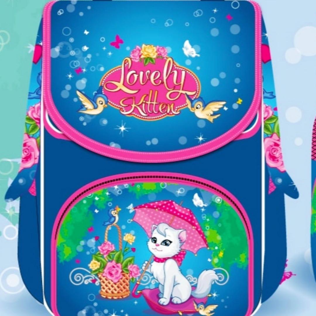 Рюкзак шкільний каркасний (ранець) Lovely Kitten