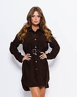 Платья ISSA PLUS 11047 L темно-коричневый