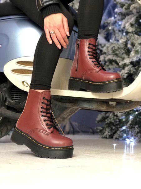 Жіночі стильні черевики Dr. Martеns, хутро