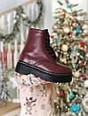 Жіночі стильні черевики Dr. Martеns, хутро, фото 3