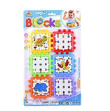 """Логічний Куб YML Blocks """"Математика тварини"""", пазли-вкладиші, на аркуші Y 86-3"""