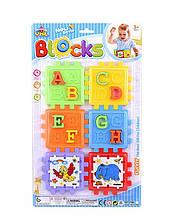 """Логічний Куб YML Blocks """"Тварини+англійський алфавіт"""", пазли-вкладиші, сортер, на аркуші Y 86-8"""