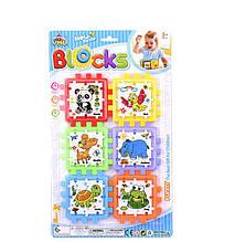 """Логічний Куб YML Blocks """"Тварини"""" пазли-вкладиші, на аркуші Y 86-2"""