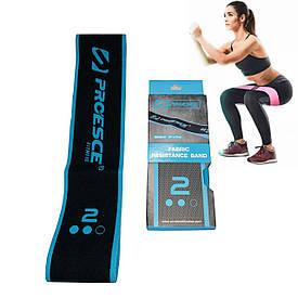 Тканинна гумка для фітнесу та спорту HIP LOOP (нейлон, латекс, р-р 66х7см) блакитна