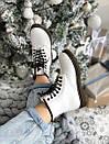 Женские белые ботинки Dr. Martens 1460 White Fur, фото 3
