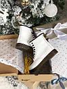 Женские белые ботинки Dr. Martens 1460 White Fur, фото 7