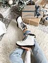 Женские белые ботинки Dr. Martens 1460 White Fur, фото 9
